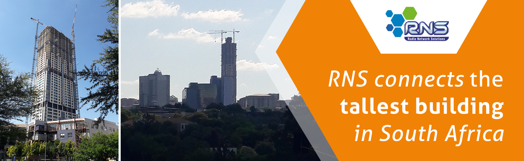 RNS connects the tallest building in South Africa
